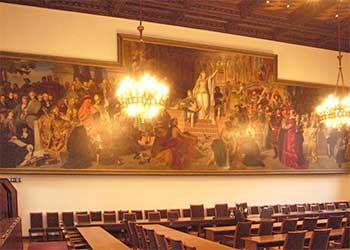 Großer Sitzungssaal im neuen Rathaus